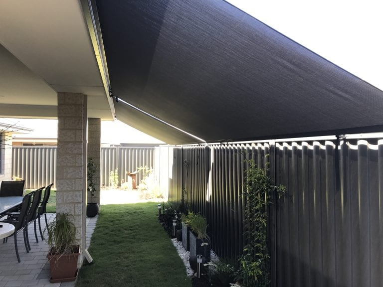 Dark Roof To Fence Blinds shading plants