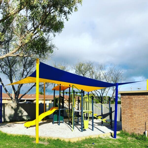 Shade Sail over kids play area